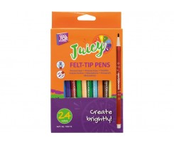 Набір фломастерів Cool for school Juicy 2 мм 24 штук асорті (CF15213)