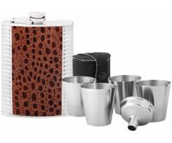 Набір подарунковий (фляга, стаканчик, воронка) Optima 240мл, глянець (O51682)