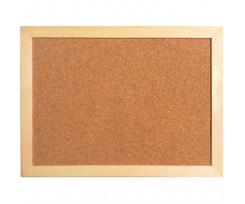 Дошка Axent коричнева коркова 45х60 см дерев'яна рамка (9601-a)