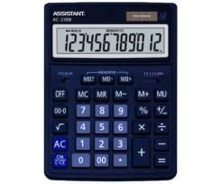 Калькулятор Assistant 206х155х35 мм 12 розрядів синій (AC-2388 (dark-blue))