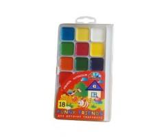 """Акварель Гама Н, """"Веселі друзі"""", 12 кольорів, без пензлика, пластик.упак. (108988)"""
