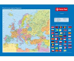 """Підкладка для письма Panta Plast """"Карта Європи"""", 590x415мм, PVC (0318-0037-99)"""