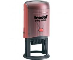 Датер Trodat Рrinty з вільним полем 45 мм шрифт 3 мм пластиковий червоний (46145)