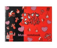 Зошит для нот Kite MTV, А5, 20 аркушів (MTV20-405-2)