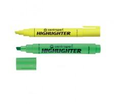 Комплект з 2-х маркерів Centropen Fax 1-4.6 мм жовтий зелений (8852/04_05/2/P)