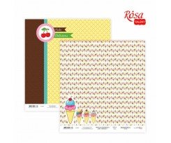 Папір для скрапбукінгу ROSA TALENT Cake delicious 1 двосторонній 30х30 см 200 г/м2 (5316019)