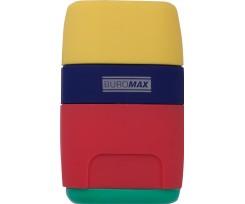 Гумка + Чинка BUROMAX, 2 отвори, пластик (BM.4771-1)