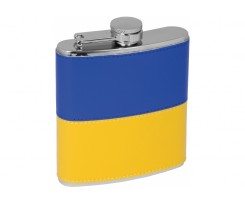 "Фляга з нержавіючої сталі Optima Cabinet ""National Flag"", 180 мл, синьо-жовтий (O51691)"