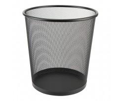 Корзина для паперу Axent кругла 260x280 мм металева чорна (2119-01-a)