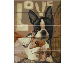 Живопис за номерами ArtStory Love на дереві 30х40 см асорті (ASW021)