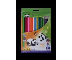 Кольорові олівці Zibi KIDS LINE 18 шт., (ZB.2452)