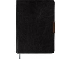 Щоденник недатований Buromax SALERMO, A5, 288 сторінок, чорний (BM.2026-01)