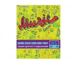 Зошит для нот Cool for school А5 8 аркушів (CF23013-01)