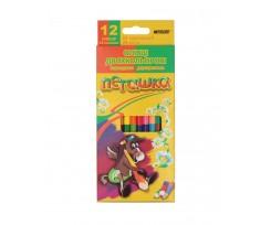 Набір з 12-ти олівців Marco двосторонніх 2.9 мм асорті (1011-12CB)