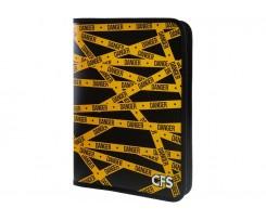 Папка Cool For School Danger на блискавці А4 чорно-жовта (CF32023)