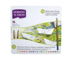 Набір акварельних олівців Derwent Academy Watercolour 24 кольори 3.5 мм (2301942)