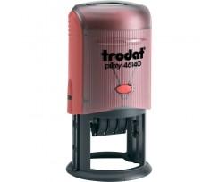 Датер Trodat Рrinty з вільним полем 40 мм шрифт 3 мм пластиковий червоний (46140)