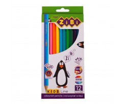 Кольорові олівці Zibi Kids Line 3 мм 12 штук асорті (ZB.2414)