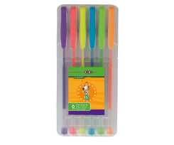 Набір гелевих ручок Zibi Neon 0.7 мм 6 штук асорті (ZB.2201-99)